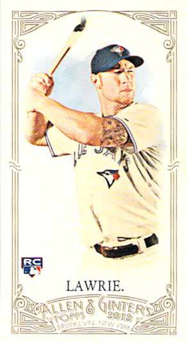 2012 Allen and Ginter Mini A and G Back #122 Brett Lawrie NM-MT RC Rookie