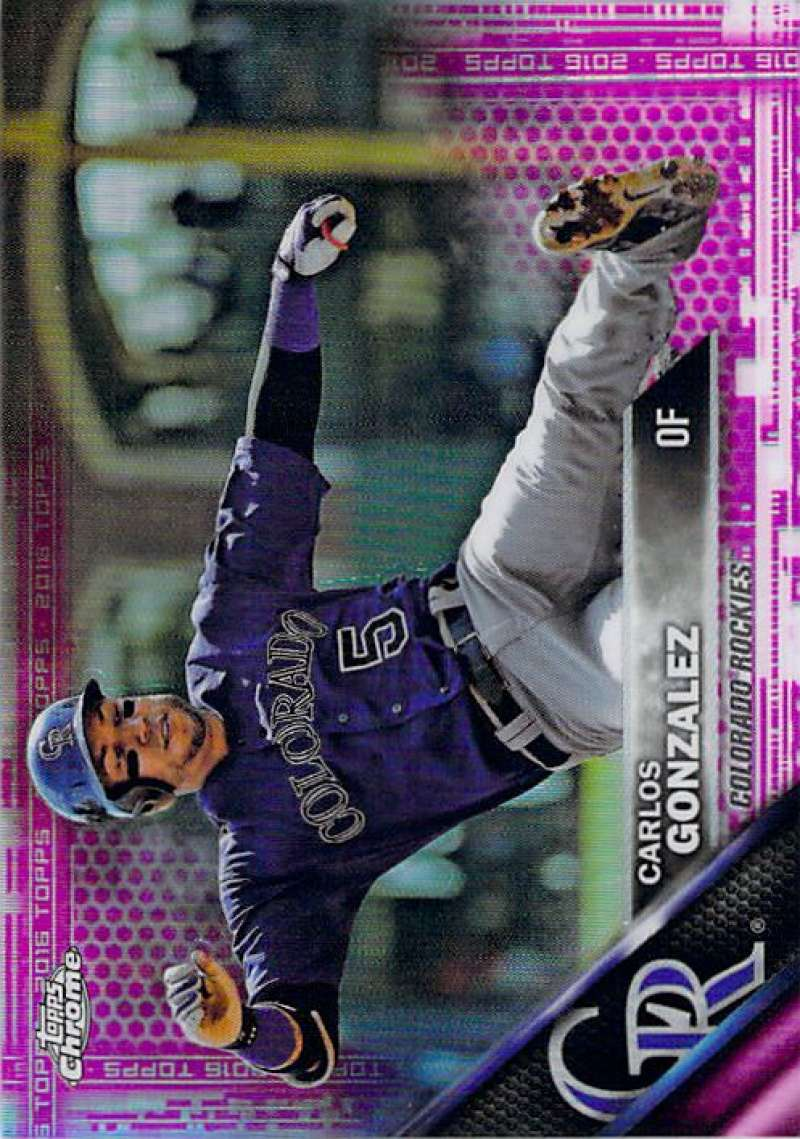 2016 Topps Chrome Pink Refractor #51 Carlos Gonzalez NM-MT