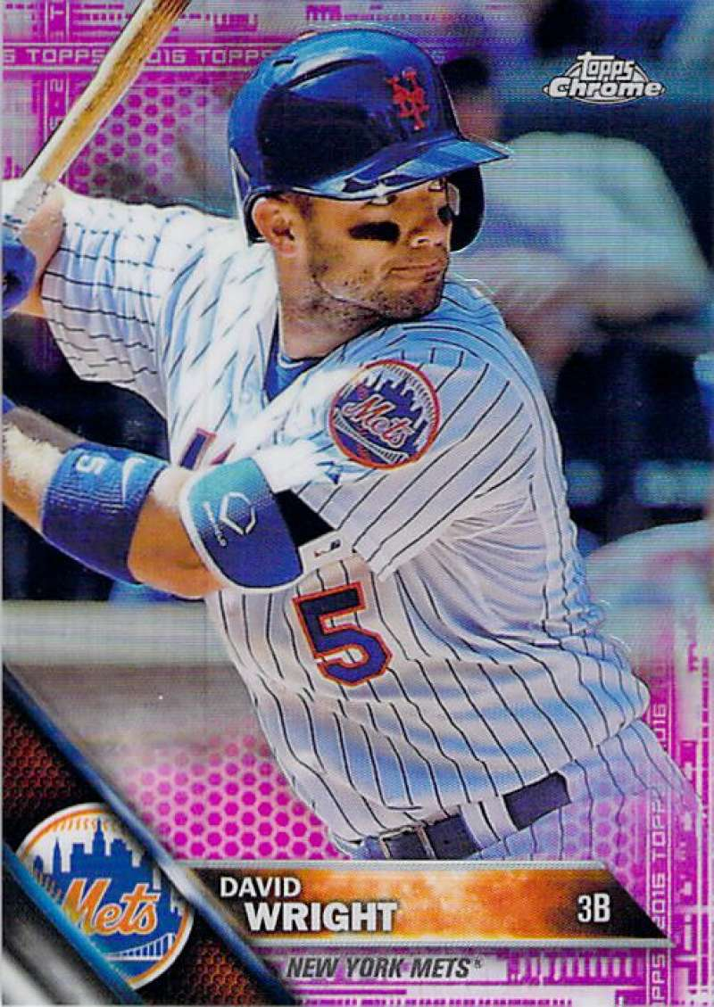 2016 Topps Chrome Pink Refractor #134 David Wright NM-MT