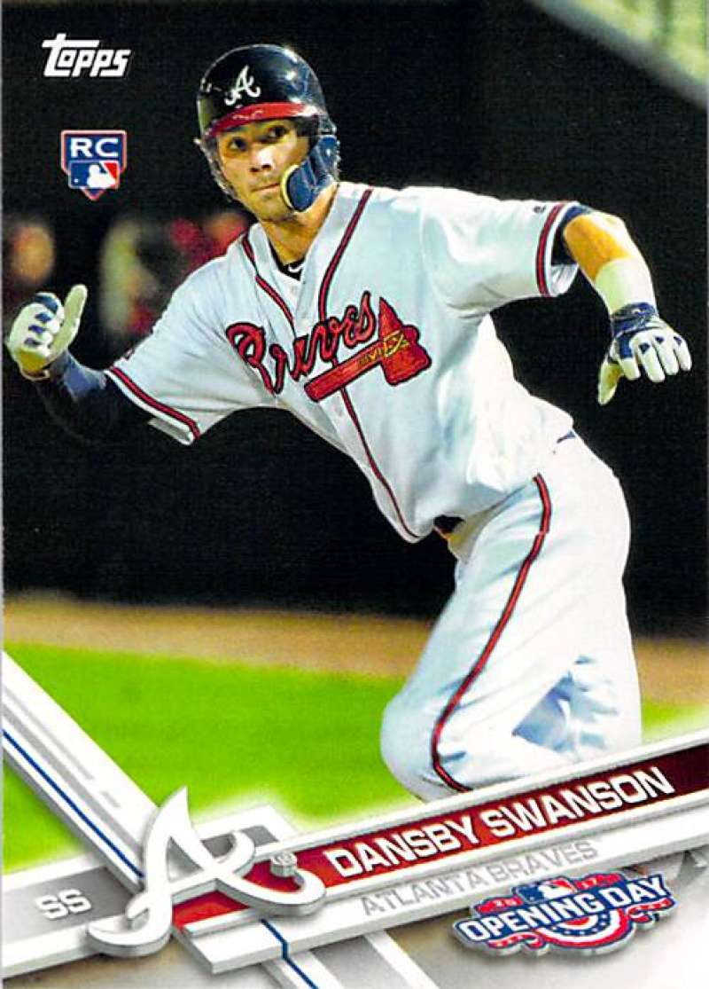 2017 Topps Opening Day #195 Dansby Swanson NM-MT RC Rookie