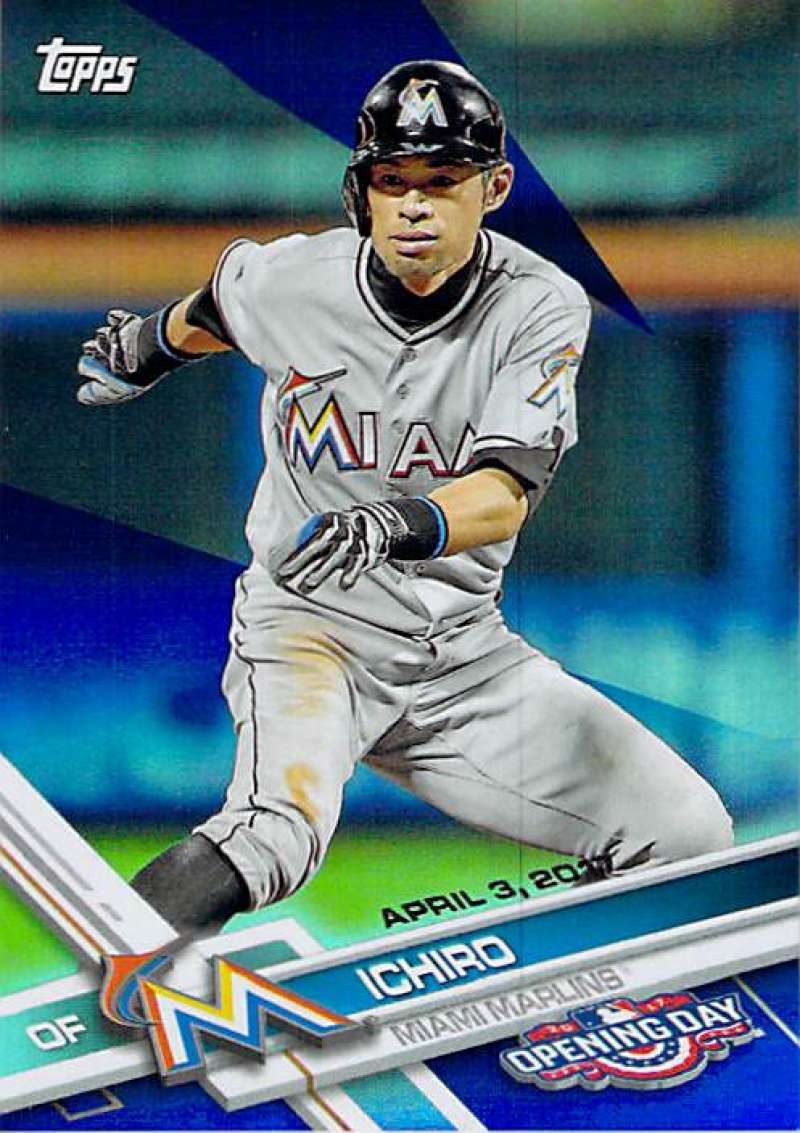 2017 Topps Opening Day Blue Foil #16 Ichiro 1:7 Packs NM-MT