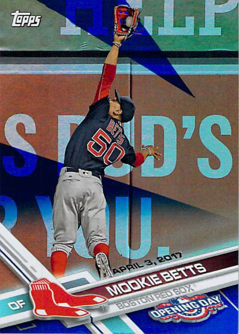 2017 Topps Opening Day Blue Foil #113 Mookie Betts 1:7 Packs NM-MT