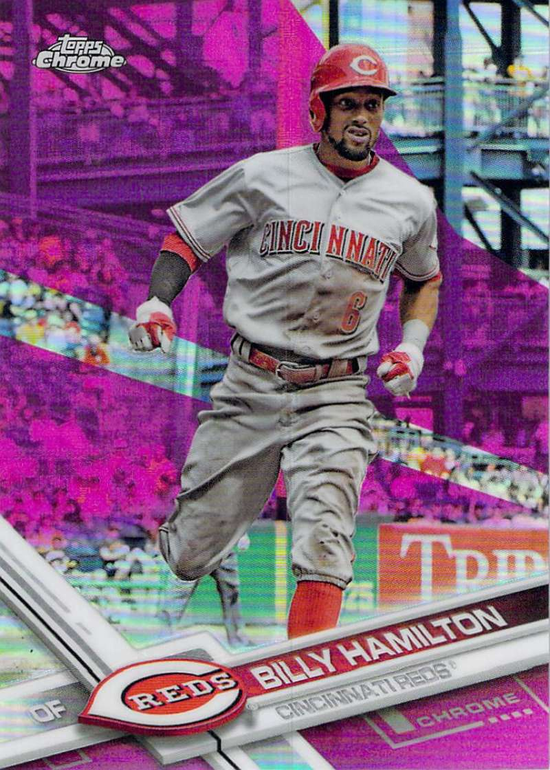 2017 Topps Chrome Pink Refractor #144 Billy Hamilton NM-MT