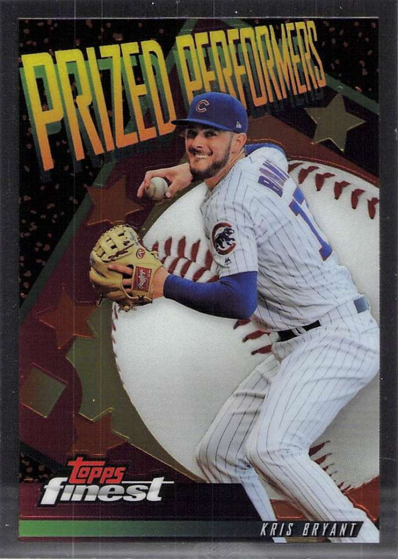 2019 Finest Prized Performers Refractors #PP-KB Kris Bryant NM-MT Chicago Cubs