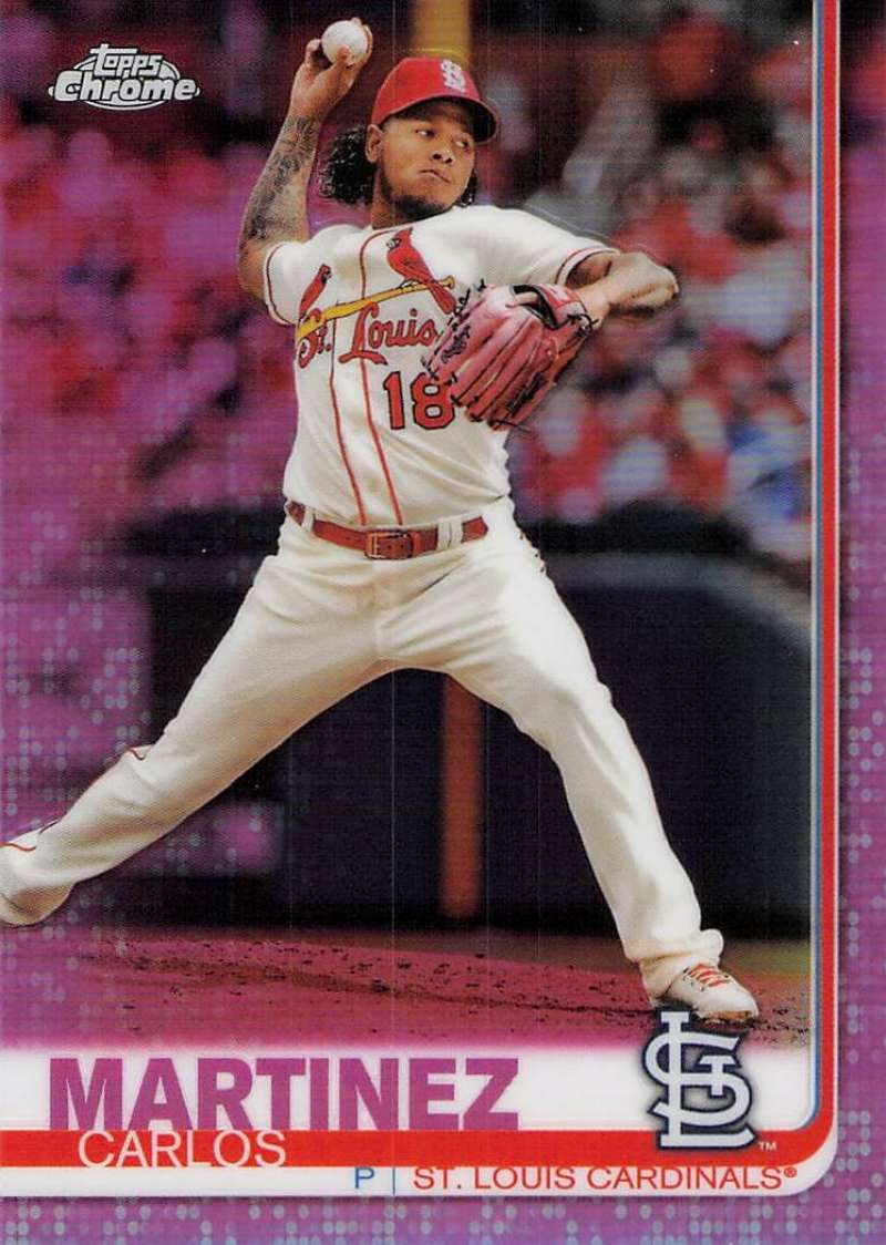 2019 Topps Chrome Refractors Pink #149 Carlos Martinez NM-MT St. Louis Cardinals