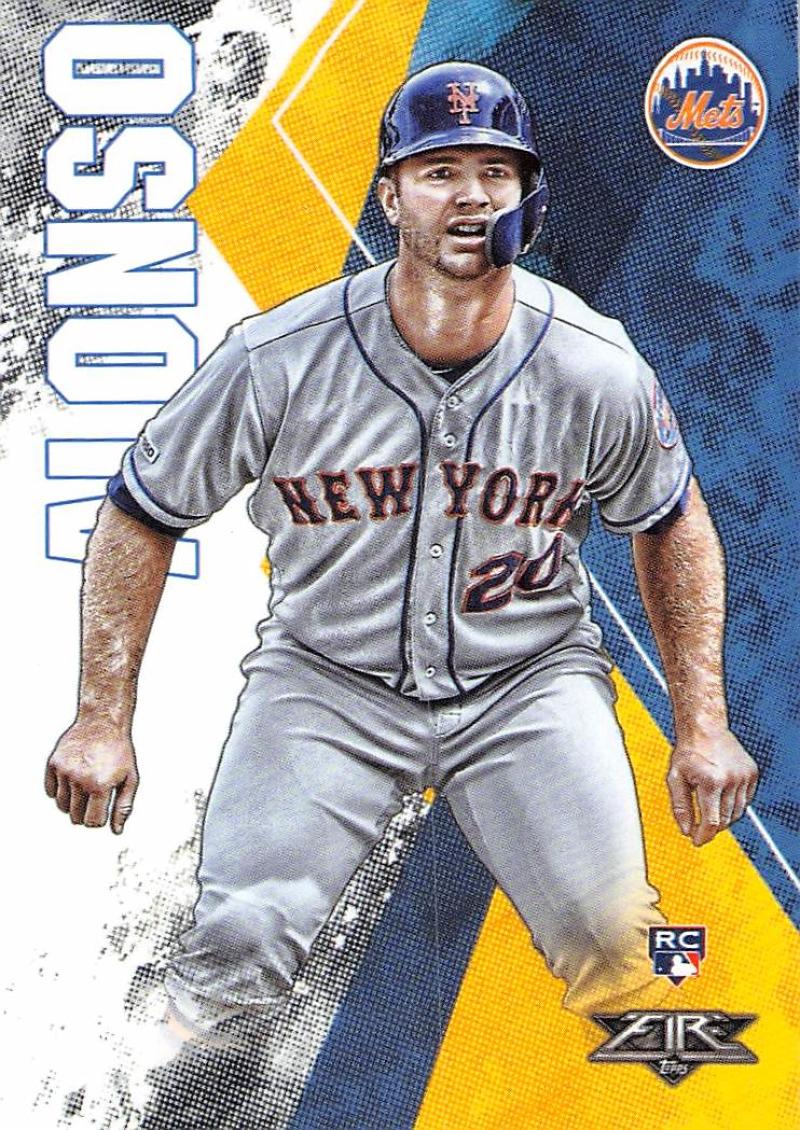 2019 Topps Fire #128 Pete Alonso NM-MT RC Rookie New York Mets