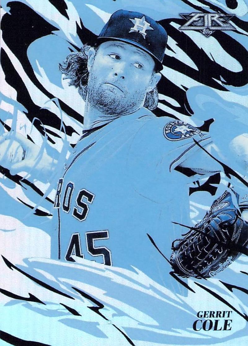2019 Topps Fire Flame Throwers Blue Chip #FT-5 Gerrit Cole NM-MT Houston Astros
