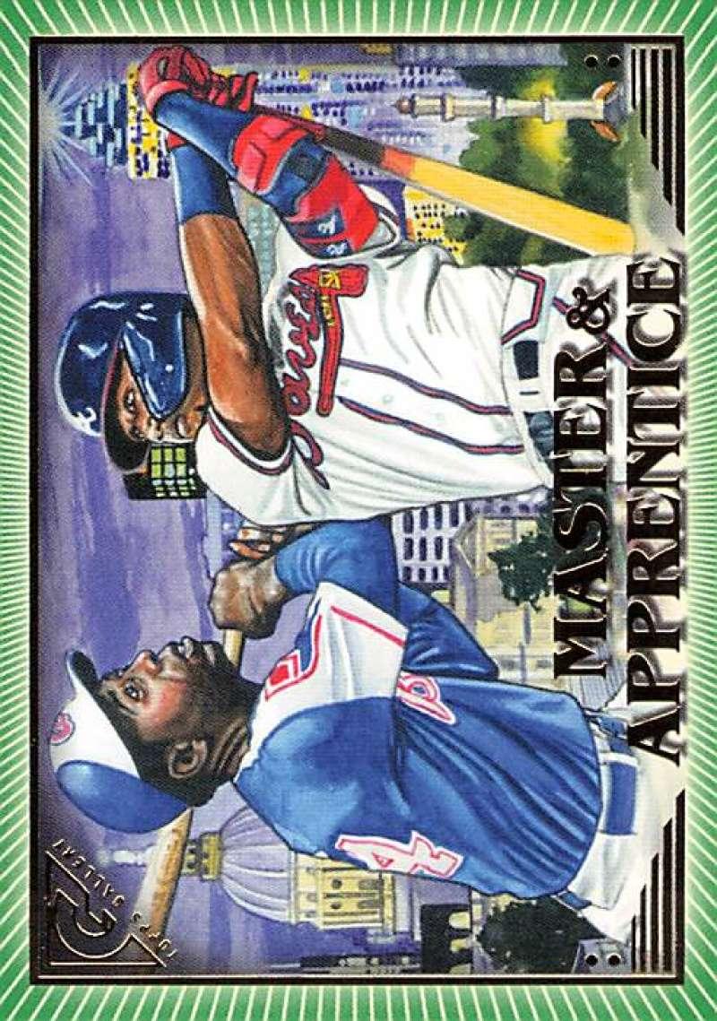 2019 Topps Gallery Master and Apprentice Green #MA-AA Hank Aaron/Ronald Acuña Jr. NM-MT 142/250 Atlanta Braves