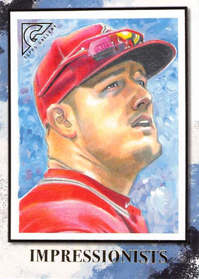 2019 Topps Gallery Impressionists #IM-1 Mike Trout NM-MT Los Angeles Angels