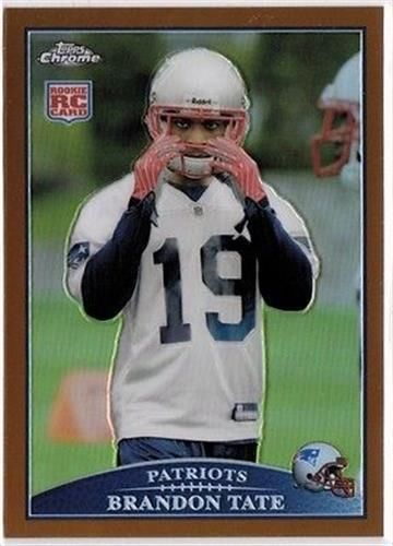 2009 Topps Chrome Copper Refractor #TC123 Brandon Tate NM-MT RC Rookie /649 Patriots