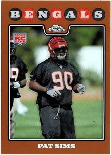 2008 Topps Chrome Copper Refractor #TC231 Pat Sims NM-MT RC Rookie /425 Bengals