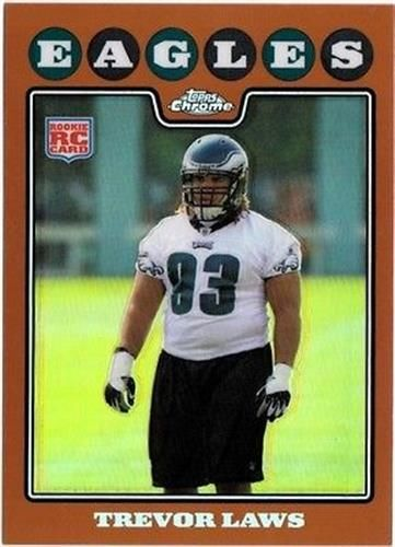2008 Topps Chrome Copper Refractor #TC235 Trevor Laws NM-MT RC Rookie /425 Eagles