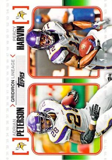 2010 Topps Gridiron Lineage #GLPH Adrian Peterson NM-MT Vikings
