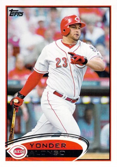 2012 Topps #19 Yonder Alonso NM-MT Reds