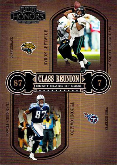 2004 Playoff Honors Class Reunion #CR29 Byron Leftwich NM-MT Jaguars