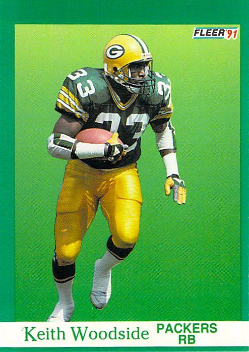 1991 Fleer #263 Keith Woodside NM-MT Packers