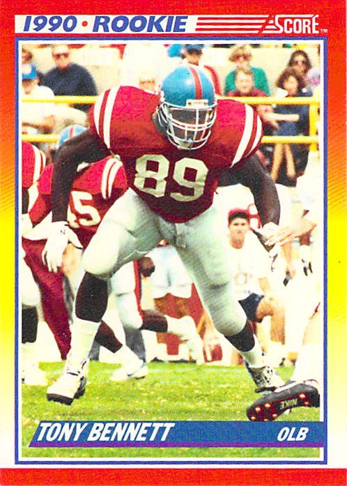 1990 Score #304 Tony Bennett NM-MT RC Rookie Packers