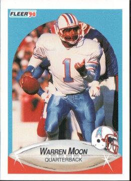 1990 Fleer #133 Warren Moon NM-MT Oilers