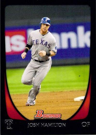 2011 Bowman #11 Josh Hamilton NM-MT Rangers