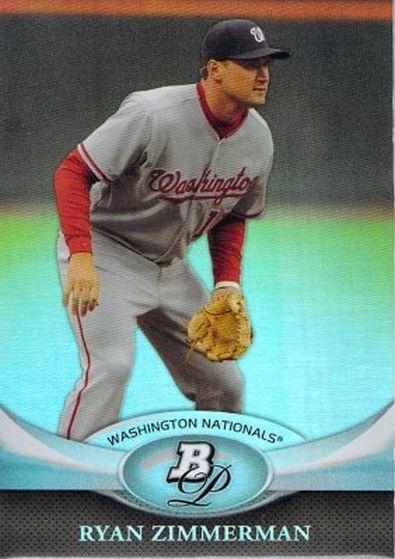2011 Bowman Platinum #73 Ryan Zimmerman NM-MT Nationals