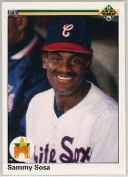 1990 Upper Deck #17 Sammy Sosa NM-MT RC Rookie White Sox
