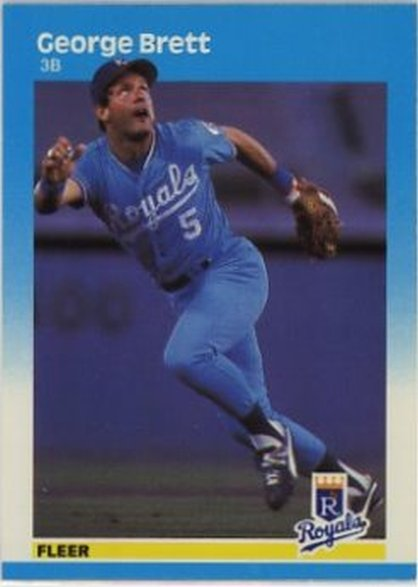 1987 Fleer #366 George Brett NM-MT Royals