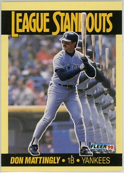 1990 Fleer League Standouts #2 Don Mattingly NM-MT Yankees