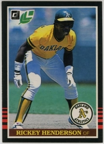 1985 Leaf/Donruss #208 Rickey Henderson NM-MT Athletics