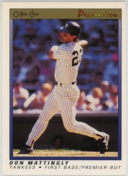 1991 O-Pee-Chee Premier #77 Don Mattingly NM-MT Yankees