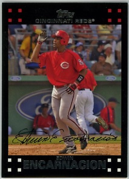 2007 Topps Red Letters #194 Edwin Encarnacion NM-MT Reds