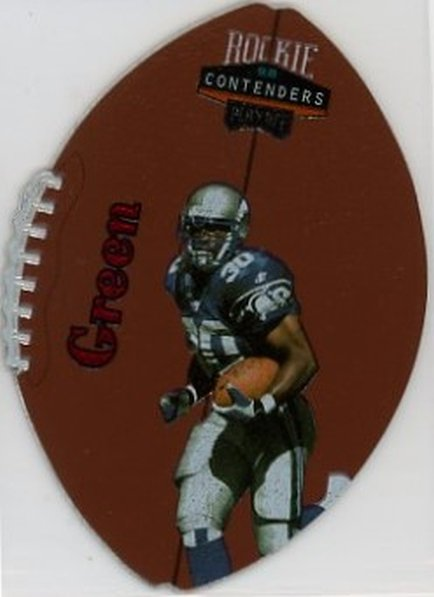1998 Playoff Contenders Leather Red #84 Ahman Green NM-MT RC Rookie Packers