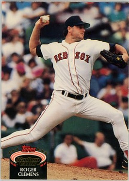 1992 Stadium Club #80 Roger Clemens NM-MT Red Sox