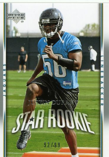 2007 Upper Deck Silver #235 Justin Durant NM-MT RC Rookie /99 Jaguars