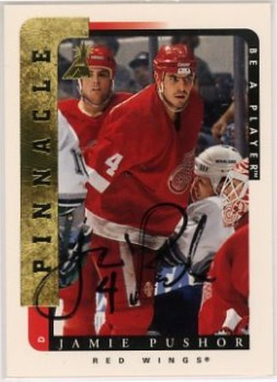 1996-97 Be A Player Signatures #102 Jamie Pushor NM-MT Auto Red Wings