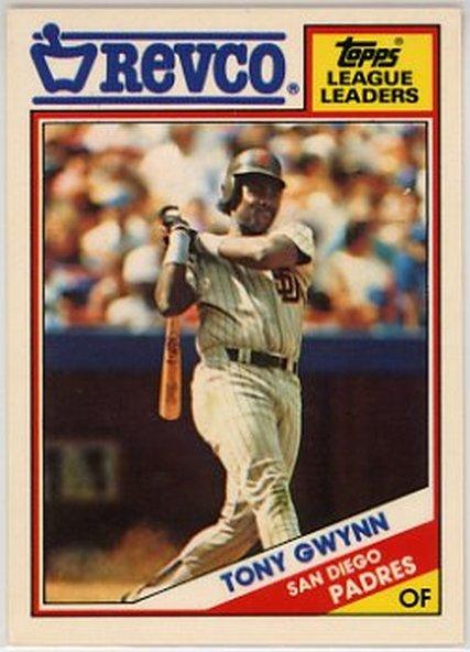 1988 Topps Revco League Leaders #1 Tony Gwynn NM-MT Padres