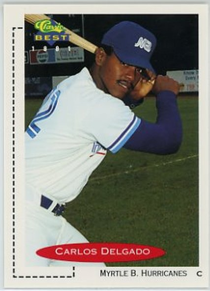 1991 Classic/Best #63 Carlos Delgado NM-MT Blue Jays