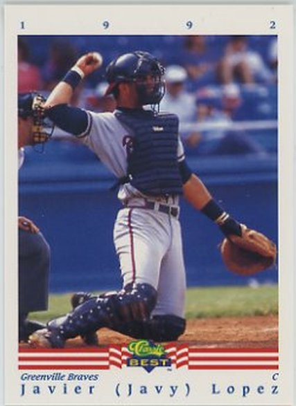 1992 Classic/Best #117 Javy Lopez NM-MT Braves