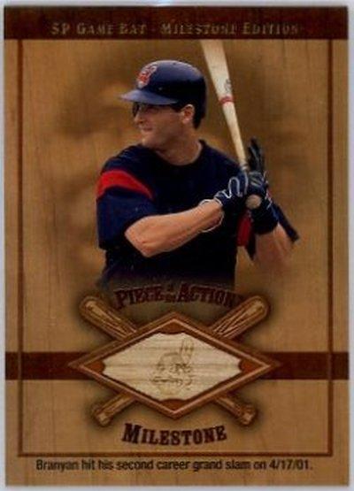 2001 SP Game Bat Milestone Piece of Action Milestone #RB Russell Branyan NM-MT GU Indians