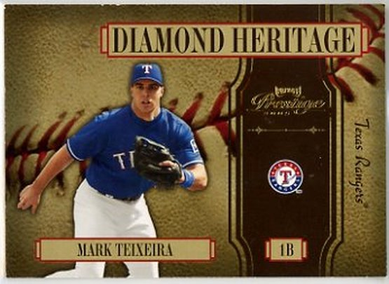 2005 Playoff Prestige Diamond Heritage #2 Mark Teixeira NM-MT Rangers