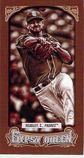 2014 Topps Gypsy Queen Mini Sepia #169 Chase Headley NM-MT /50 Padres