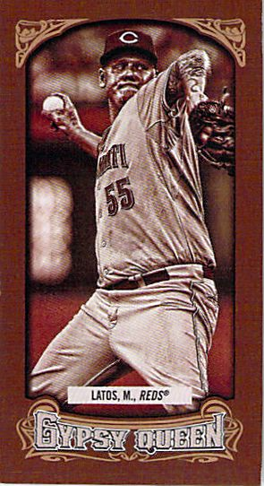 2014 Topps Gypsy Queen Mini Sepia #231 Mat Latos NM-MT /50 Reds