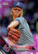 2016 Topps Chrome Pink Refractor #186 Mike Foltynewicz NM-MT
