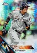 2016 Topps Chrome Prism Refractor #187 Christian Yelich NM-MT