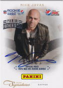 2012 Panini Father's Day Prime Signature Auto #2 Nick Javas NM-MT Auto